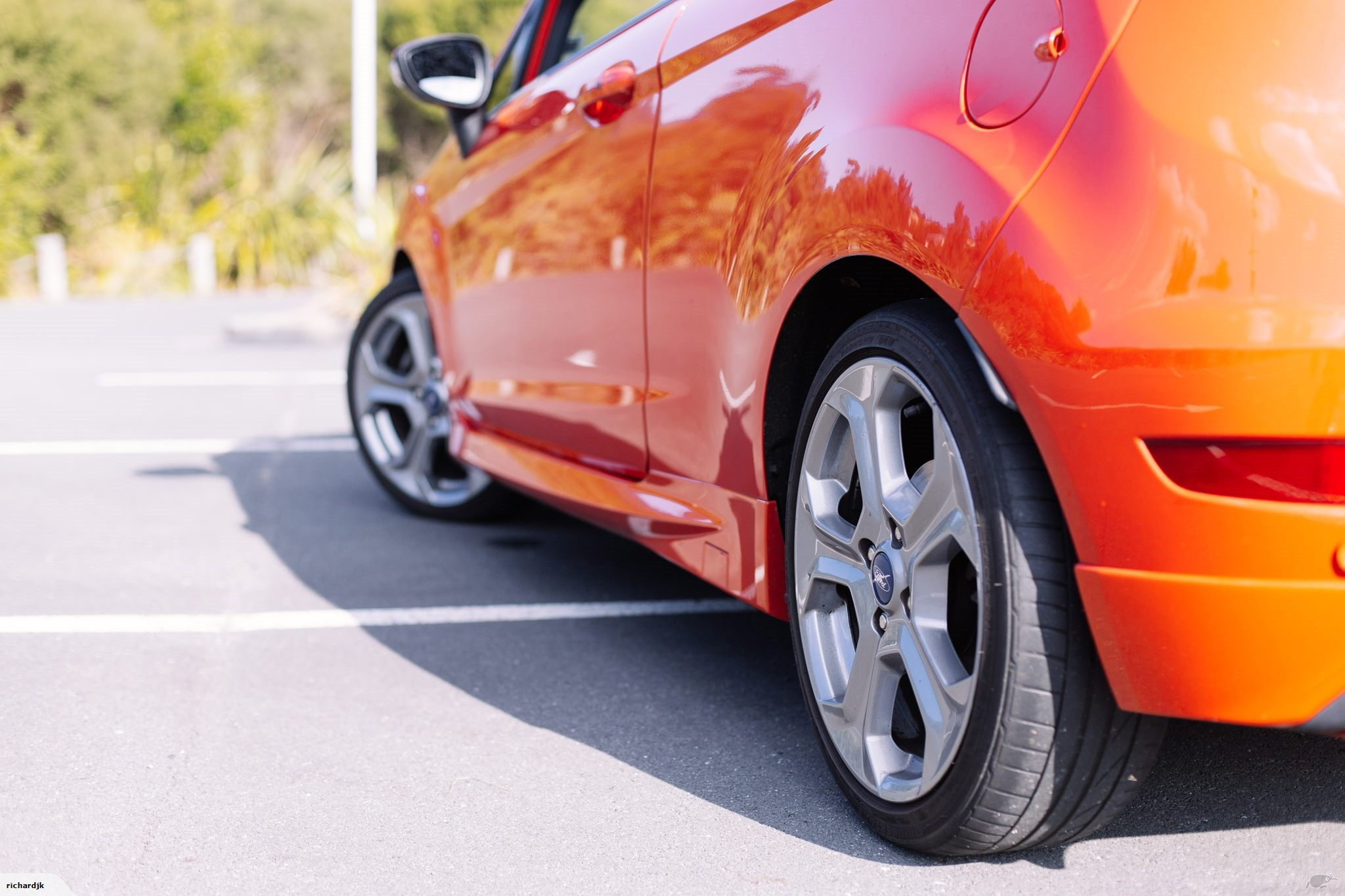 Molten Orange Fiesta ST